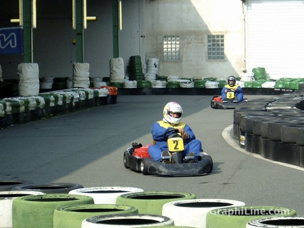 Photo Sur le circuit de karting