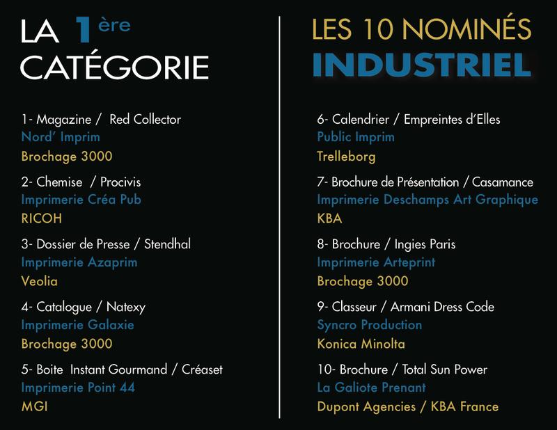 Photo Remise des Trophées de l'Impression Numérique 2014