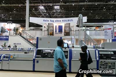 Photo Chaîne de brochage Kolbus KM 600 - Drupa