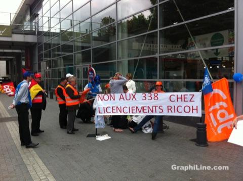 Photo Ricoh en grève